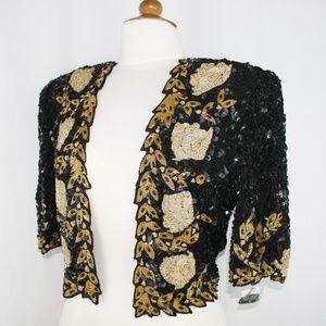 JASDEE Vintage Bolero Jacket HandWork Bead Sequin